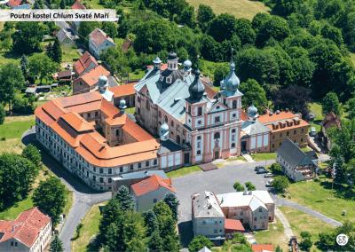 Sokolovsko z nebe - Poutní kostel Chlum Svaté Maří