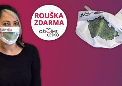 Roušky #chráním Česko ZDARMA