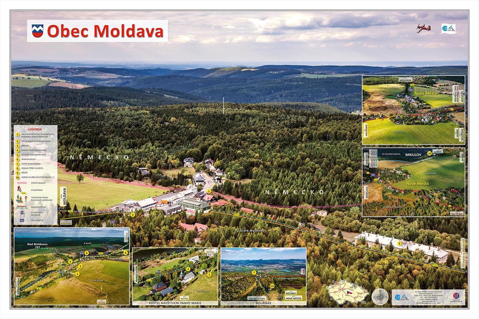 Fotomapa obce Moldava