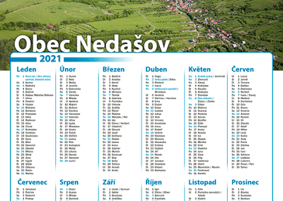 Kalendář obec Nedašov