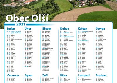 Kalendář obec Olší