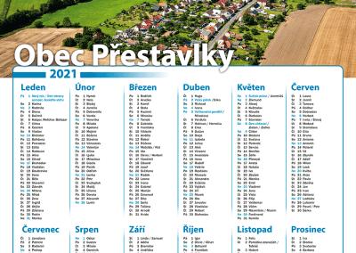 Kalendář obec Přestavlky
