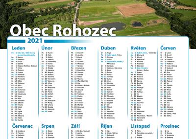 Kalendář obec Rohozec