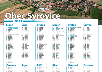 Kalendář obec Syrovice