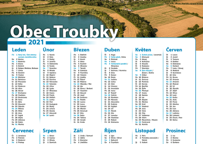 Kalendář obec Troubky