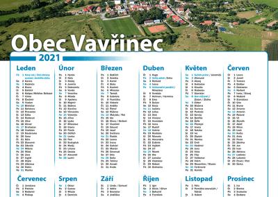 Kalendář obec Vavřinec
