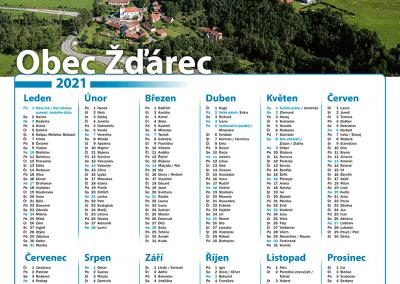 Kalendář obec Žďárec